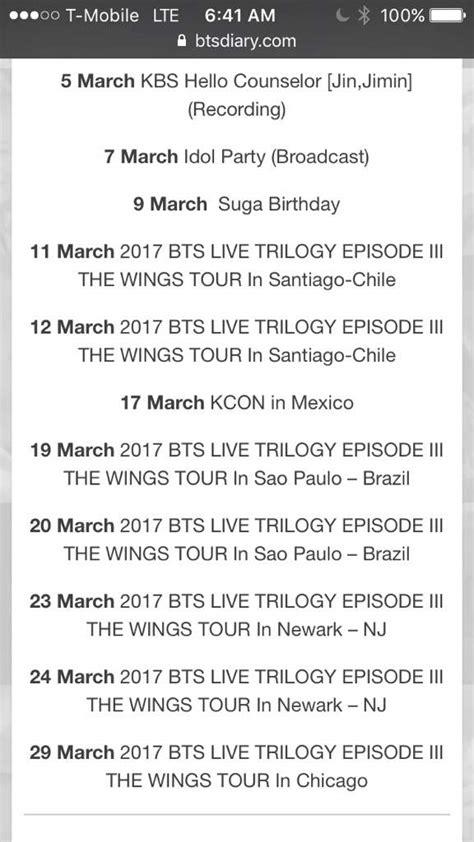 bts schedule bts march schedule army s amino