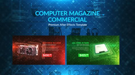 Computer Magazine Commercial Commercials Envato Videohive After Effects Templates After Effects Commercial Template