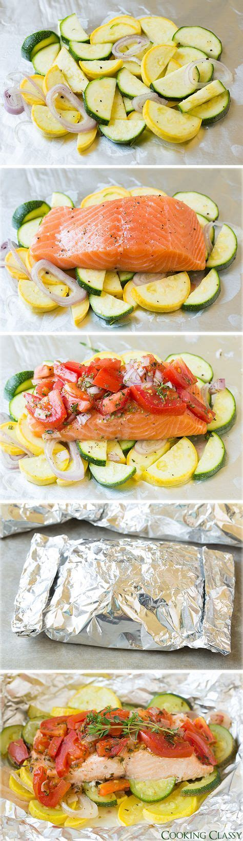 protein in salmon salmon and summer veggies in foil recept sommar