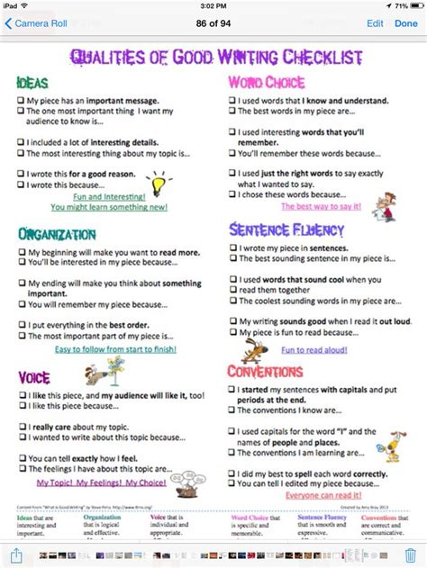 Checklist For Essay Writing by 17 Best Images About Writing Rubrics Checklists On