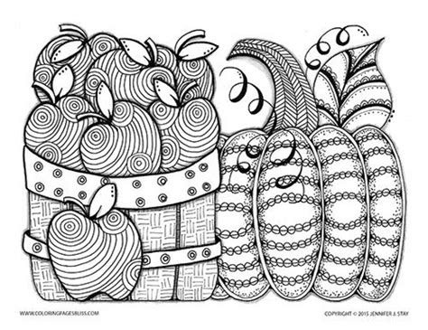 awesome fall coloring pages for grown ups free printable