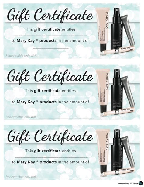 Mary Kay Gift Card - mary kay gift certificate template printable memes