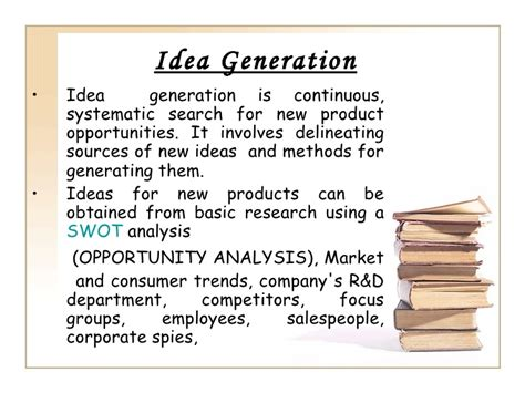 product design idea generation new product development process