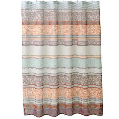 kohls fabric shower curtains kohl s meduri paisley bohemian style fabric shower curtain