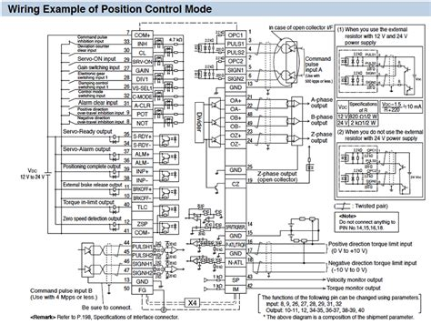 panasonic resistor s parameters minas a5 family wiring connection automation controls industrial devices panasonic