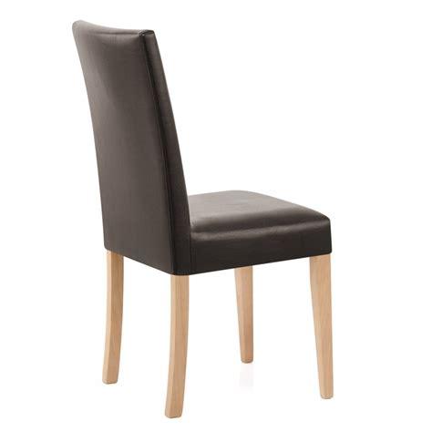 sedia in pelle sedia chicago quercia in ecopelle e legno