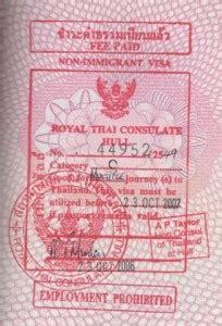 consolato thailandese a storia sui visti turistici in thailandia