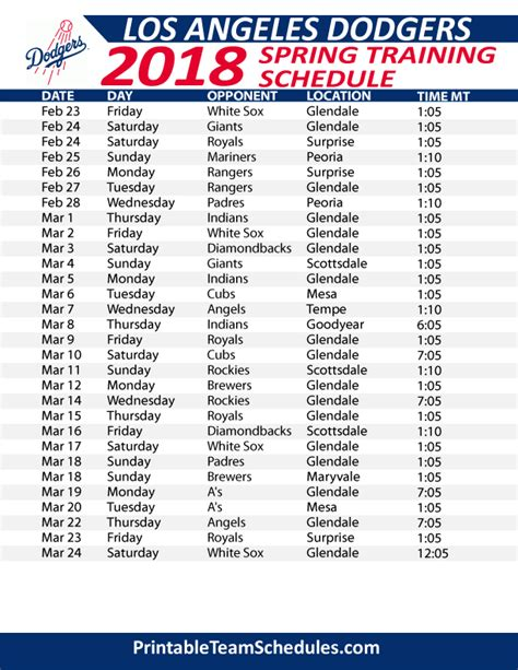 dodgers schedule images