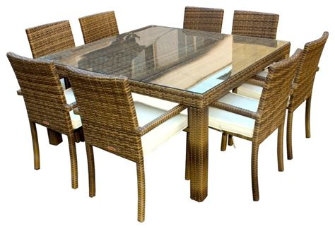 Outdoor Dining Sets Houzz Shop Houzz Mangohome 9 Outdoor Patio Wicker And