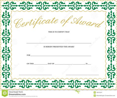 generic certificate templates free award certificate templates to image