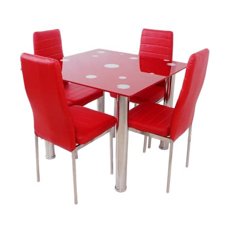 Kursi Isi Styrofoam jual best furniture square dining set meja makan merah