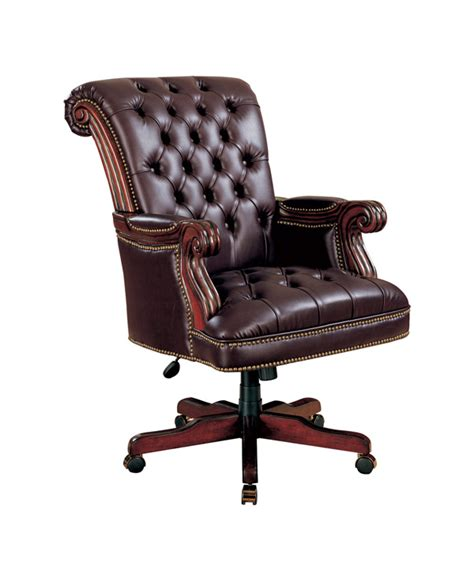 traditional executive office chair with gas lift coaster
