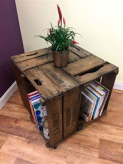 vintage apple crate coffee table apple crates crates