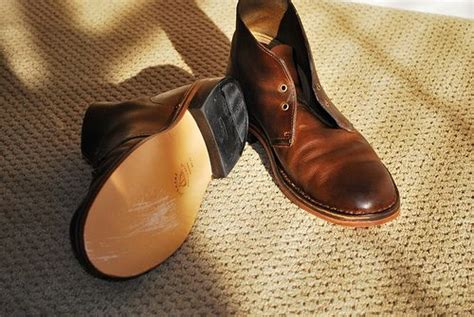 clarks desert boots resoled with leather style