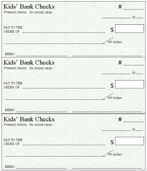 6 Blank Check Templates For Microsoft Word Website Wordpress Blog Blank Check Template Word