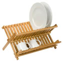 folding bamboo dish rack the container store
