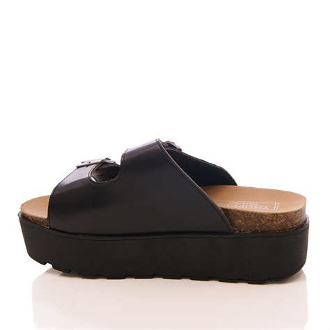 Sandal Platform Slipon womens truffle mule sandals wedge slip on platform summer shoes size ebay