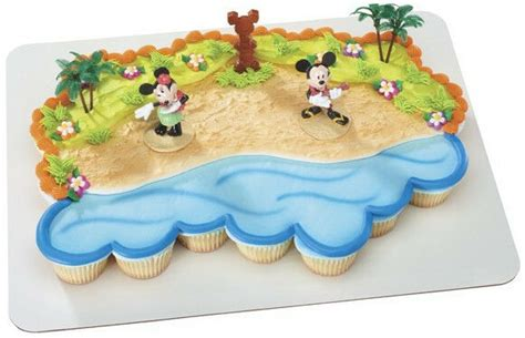 cake decorating topper kit mickey minnie mouse luau birthday party ebay