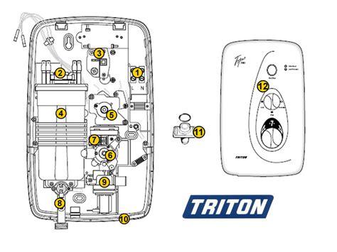 triton topaz t80i shower spares and parts triton topaz