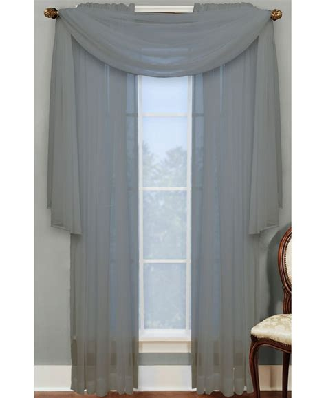 miller curtain miller curtains sheer angelica volie 56 quot x 216 quot scarf