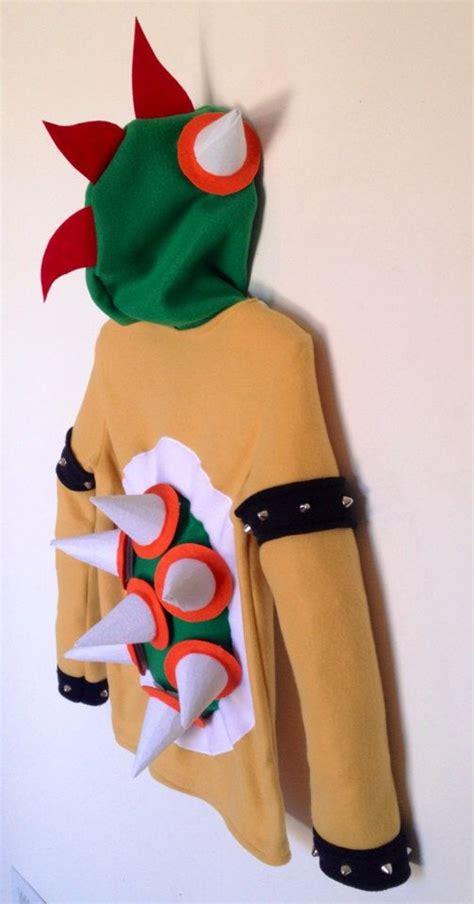 Hoodie Mario Bros Merah 2 nintendo mario bros inspired bowser fleece hoodie shirt