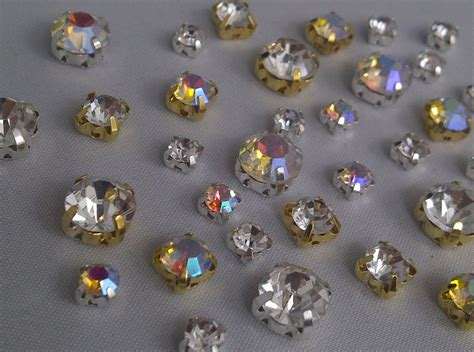 glass stones for jewelry grade a sew on cut glass crystals rhinestones diamantes