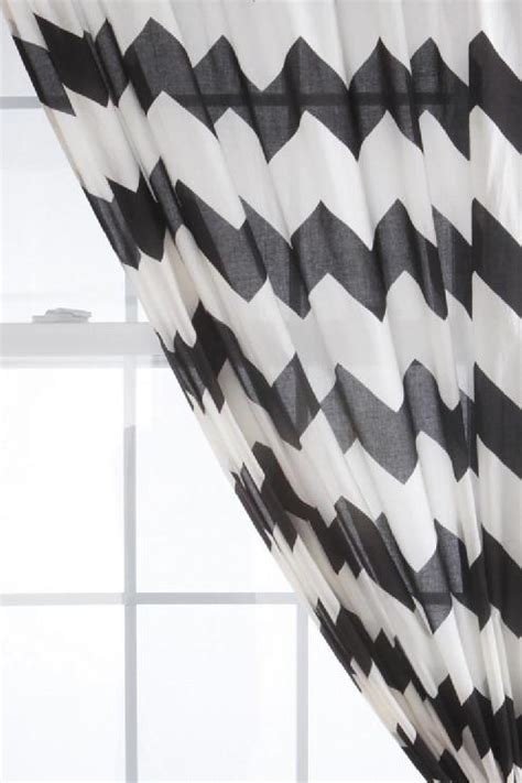 black and white zig zag curtains urbanoutfitters com gt zig zag curtain