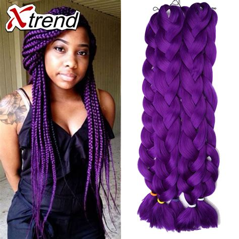 colored kanekalon hair cheap synthetic dreadlock hair extensions 42inch xpression