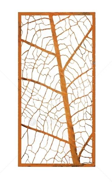 laser cut wall mounted decor leaf vein screen