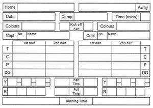 Soccer Referee Score Card Template by Rugby Referee Scorecard X10 Ebay