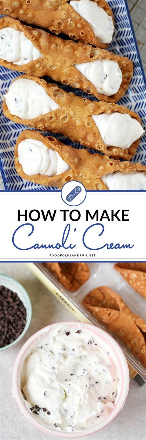 how to make the best homemade cannoli cream spring food easter food spring recipe