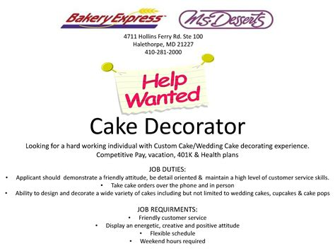 Sap Bw Tester Cover Letter by Cake Decorator Description List Iron