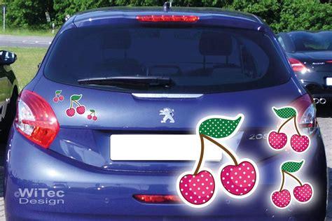 Autoaufkleber In Pink by Auto Aufkleber Kirschen Rockabilly Set Pink Sticker