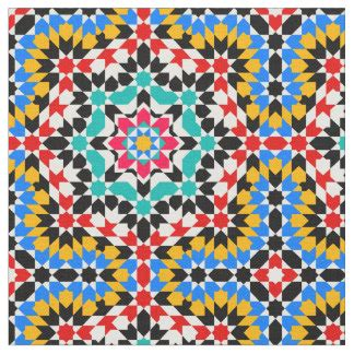 islamic pattern fabric arabic fabric zazzle