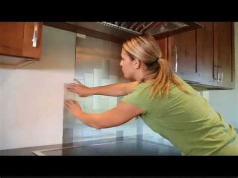 Peel And Stick Kitchen Backsplash Ideas by Diy Aspect Backsplash Tile Installation Youtube