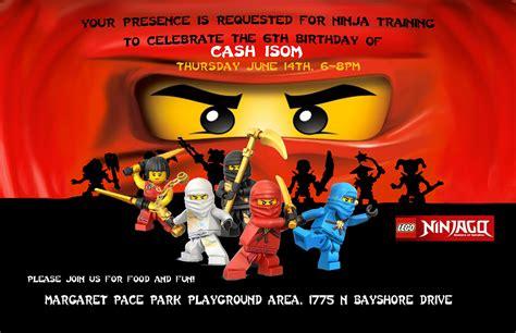printable lego ninjago birthday invitations the isoms ninjago birthday party