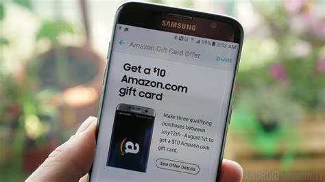 get a 10 amazon gift card for making three samsung pay purchases android authority - How To Use Samsung Pay Amazon Gift Card