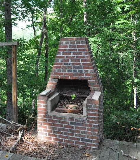 brick bbq pit my grandmother had one just like this i