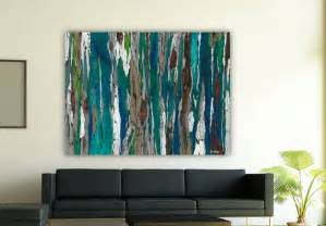 Large Wall Art by Very Large Wall Art Extra Large Oversized Teal Canvas