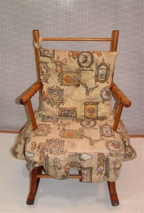 vintage childrens wooden rocking chair vintage childs wooden rocking chair rocker with fabric