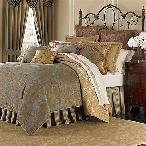 Michael Amini Victoria 4 Piece Reversible Comforter Set Michael Bed Set