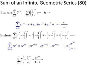 Sum To Infinity Of A Geometric Progression Sum Of An Infinite Geometric Series 80 Ppt