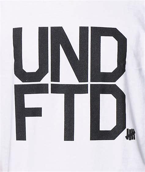 Kaos Undefeated Undefeated Tees Undefeated Tshirt Undefeated 1 undefeated undftd white t shirt zumiez