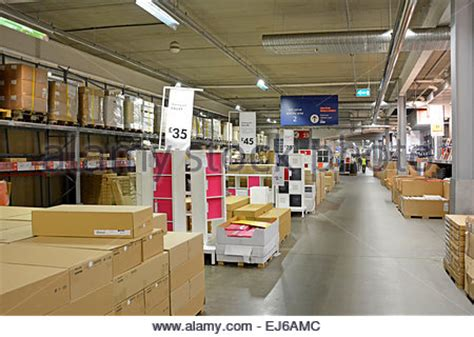 customer inside warehouse part of ikea home store stock inside ikea store interior shopping warehouse area retail