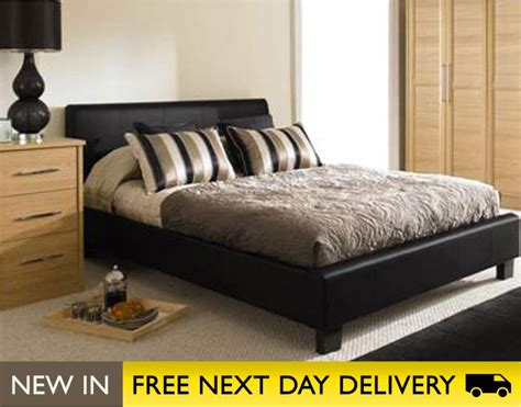 leather king bed roma 5ft king size black faux leather bed cheapest 5ft