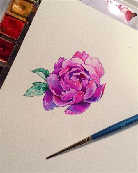 watercolor tattoo peony best 25 peony drawing ideas on peonies