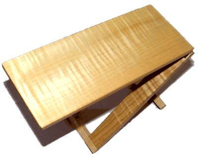 Guitar Foot Stool Wood by Handmade Guitar Foot Stool Curly Maple