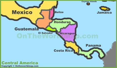map of central america political map central america america map