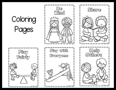 kindness coloring pages printable kindness coloring pages school pinterest