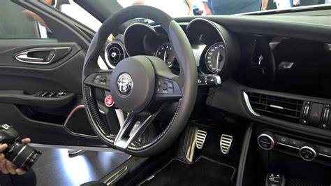 alfa romeo giulia interior our best look yet at new alfa romeo giulia s interior